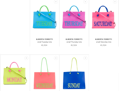 Small *Tuesday* Tote $1,524 28/3/18 @Farfetch