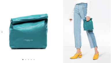 Blue Lunch Bag, 20 Leather Clutch Bag 28/3/18 @Farfetch
