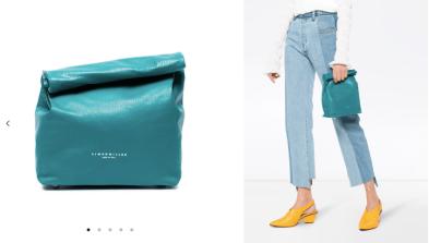 Blue Lunch Bag, 20 Leather Clutch Bag 28/3/18 @Farfetch