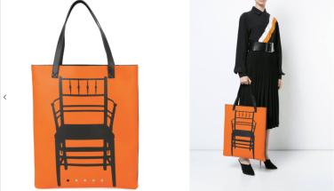 Chair Print Tote Bag $3,302 28/3/18 @Farfetch