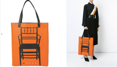 Chair Print Tote Bag $3,302 28/3/18 @Farfetch