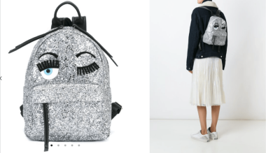 Flirty Glitter Backpack $561 28/3/18 @Farfetch