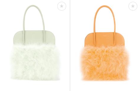 Panelled Fluffy Bag $1,724 - Pistachio - Tangerine 28/3/18 @Farfetch